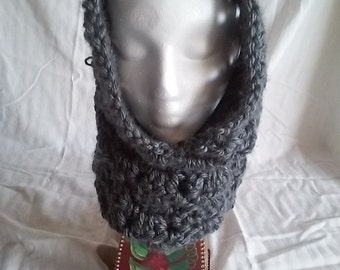 Neck and Hood Cowl-Brick Gray-XS/Small Size