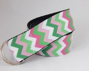 Women's chevron belt, fashion belt with d-ring, 38mm wide belt for girls, teenagers, women