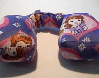 New Design. Kid's NECK PILLOW for traveling very comfortable in the car seat.  For 5 years and older. Sofia the First.