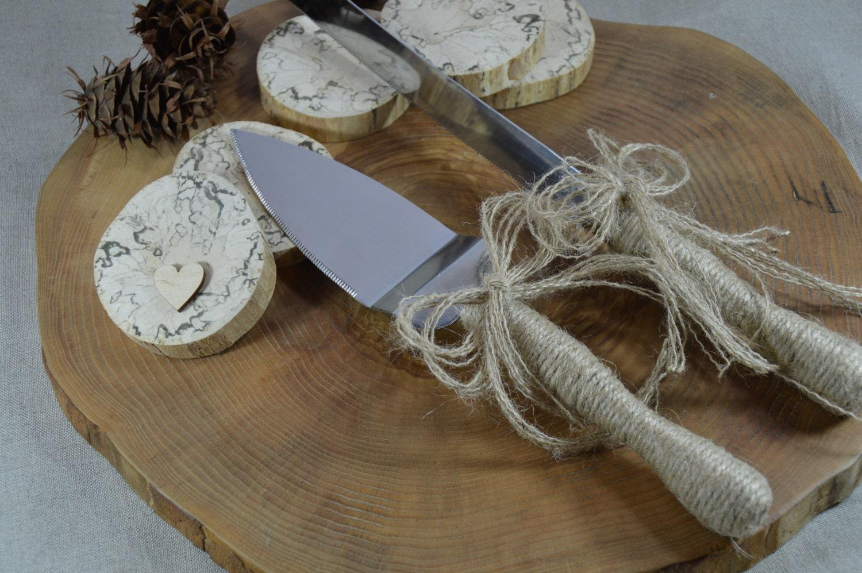 rustic wedding cake server and knife wedding by woodenartgallery. Black Bedroom Furniture Sets. Home Design Ideas