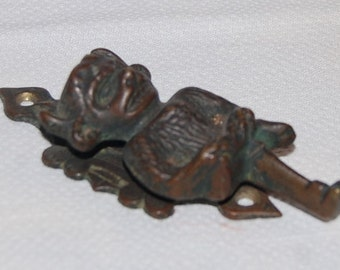 Devil Door Knocker Vintage Gothic Rare Antique Gargoyle Demon Knocker