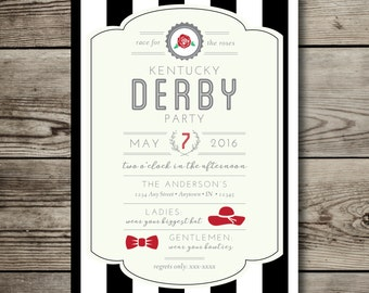 printable KENTUCKY DERBY custom invitation