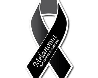 Set of Melanoma Skin Cancer Awareness Sticker/Decal or Magnet