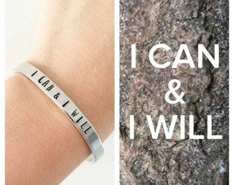 I CAN and I WILL, good intentions, power phrase bracelet bracelet