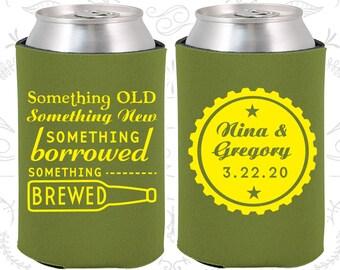 Something Old, Something New, Something Borrowed, Something Brewed, Wedding Keepsake, Beer Bottle, Wedding Can Coolers (265)