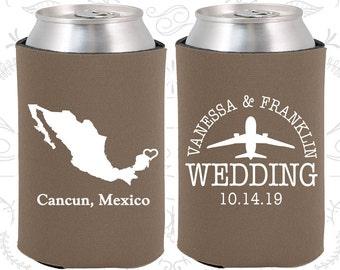 Mexico Wedding Ideas, Coolies, Destination Favors, Mexico Gifts, Mexico Wedding, Cancun Gifts, Travel Gift (184)