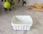 Heritage Edition White Porcelain Berry Basket- Small