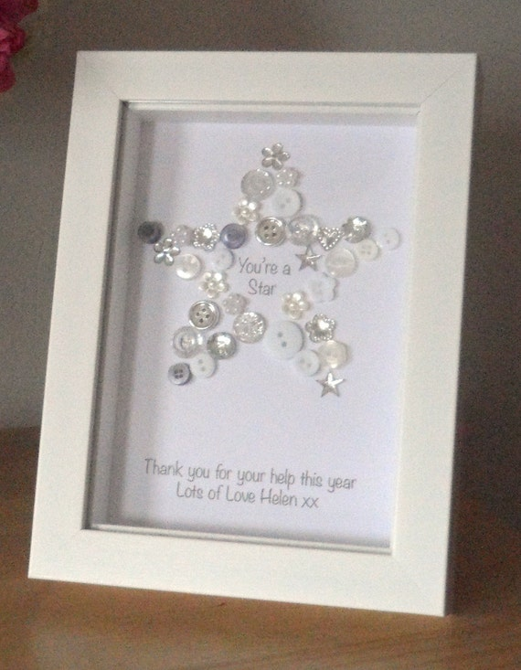 You 39 Re A Star Button Picture Print Personalised Thank