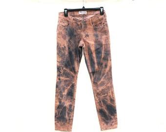 Upcycled Tie Dye Corduroy Pants, OOAK Repurposed Bottoms, Hippie Recycled Clothing, Trippy Ladies Pants