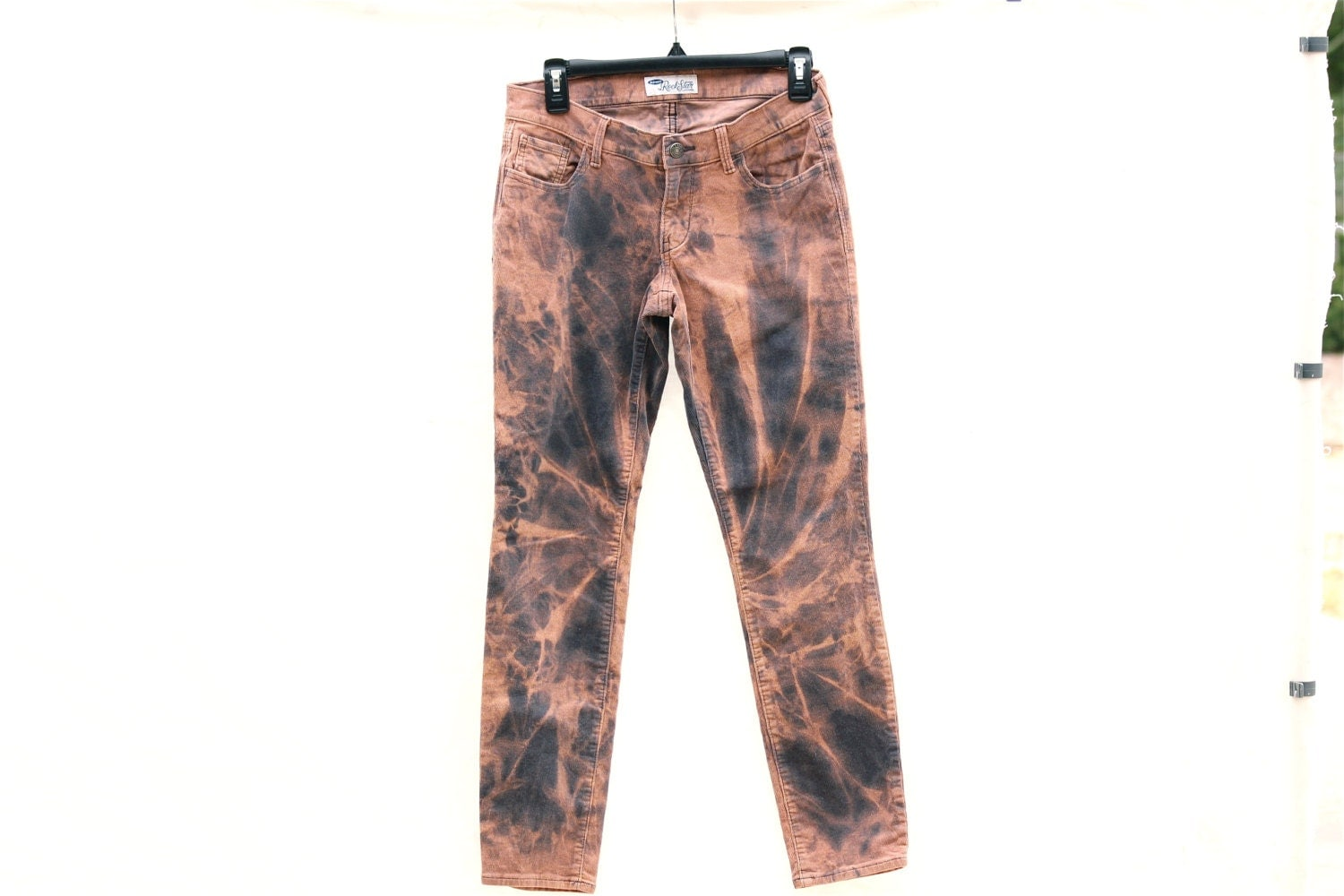 Upcycled Tie Dye Corduroy Pants, OOAK Repurposed Bottoms, Hippie ...