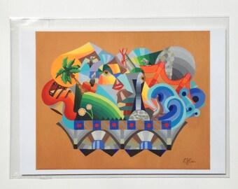 Abstracting sights print