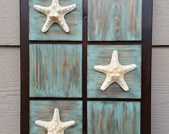 Starfish Wood Sign - Starfish Decor - Coastal Wall Art - Coastal Decor - Beach Decor