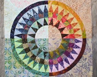 New York Beauty Quilt Block Paper Piecing Pattern - Block X