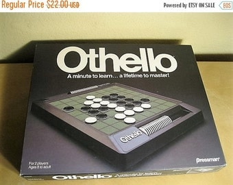 "On Sale Vintage 1990 Othello Strategy Game by Pressman, Vintage Game, 2 Players, Ages 8 to Adult, ""Othello"" Strategy Game"