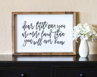 Wood Sign  |  Hand Made  |  Dear Little One |  Nursery