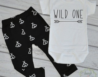 Wild One First Birthday Boy 1st Birthday Outfit Boy Clothes Cake Smash Outfit Boy Wild One Birthday Shirt Hipster Baby Clothes 196