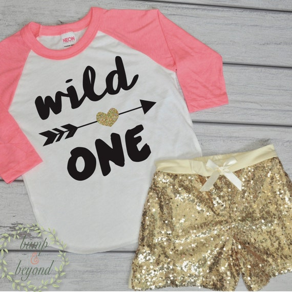 Wild One First Birthday Outfit Girl By BumpAndBeyondDesigns