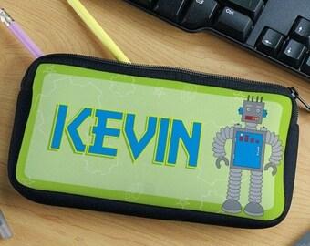 Personalized Robot Pencil Case