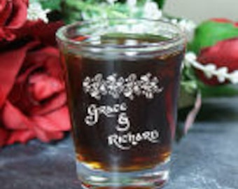 Personalized Couples Shot Glass