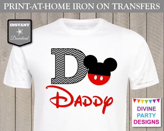 Instant download print at home mouse daddy chevron for Instant t shirt printing