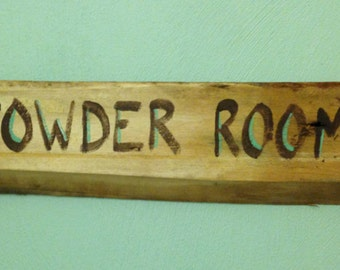 Rustic Powder Room Sign