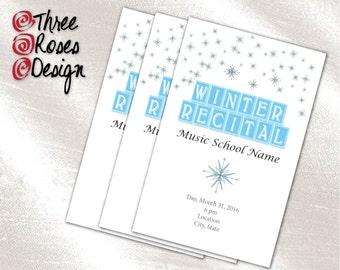 dance recital program templates