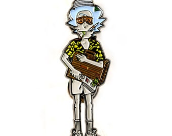 Rick and Morty + Hunter S. Thompson Enamel Heady Festival Hat and Lapel Pin Badge