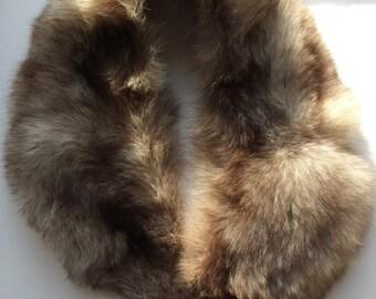 Beautiful Vintage Raccon Fur Stole