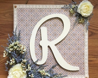 Wooden Initial Wall Decor