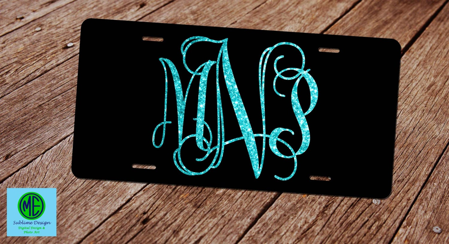 glitter monogram license plate faux glitter license plate frame custom license plate monogram car tag front license plate black