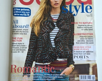 10/2014 BurdaStyle Magazine with 17 Patterns Like New & Complete