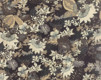 Black Tie Affair Black Floral Fields Yardage <br> 30420-12 by BasicGrey for Moda Fabrics  SKU# 30420-15