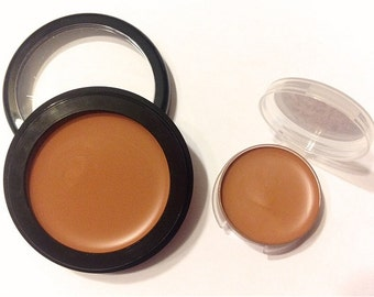COCOA BEIGE Perfecting Cream Foundation - Creamy Foundation Concealer Makeup - Vegan Gluten Free