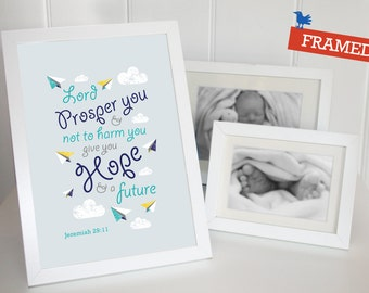 FRAMED Bible verse prints for little ones' bedrooms, nurseries, and playrooms. Aeroplane