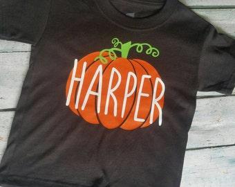 Little Pumpkin Shirt, Pumpkin Shirt, Halloween Shirt, My first Halloween, jackolantern, Halloween outfit