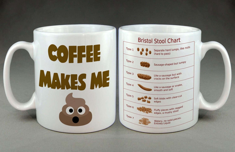 Bristol Stool Chart Coffee Makes Me Poop Emoji Funny By Gwenys