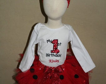 1st Birthday Lady Bug outfit