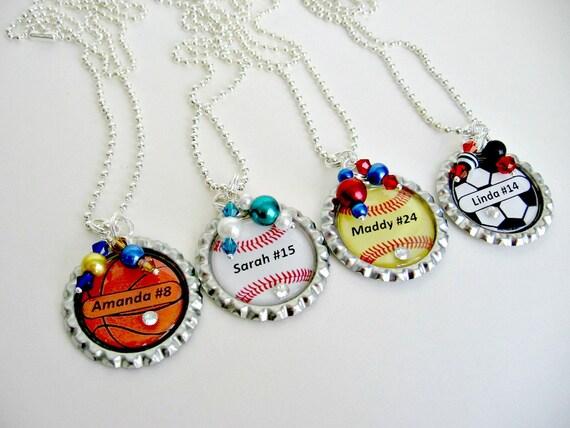 custom sports necklaces personalized sports jewelry soccer
