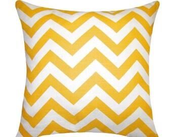 SALE - Premier Prints Zig Zag Corn Yellow Chevron Decorative Pillow Cover - FREE SHIPPING