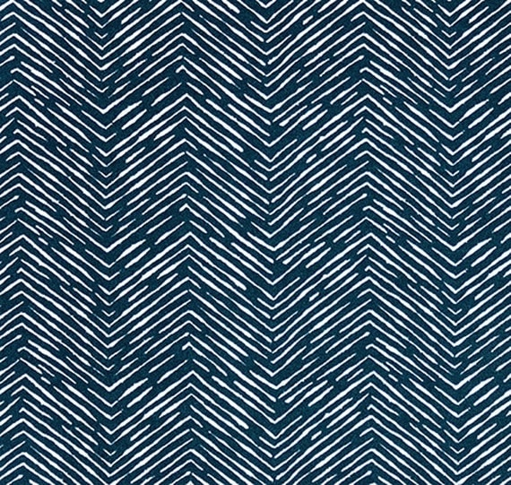 OUTDOOR Navy Blue Herringbone Fabric Geometric Fabric Navy