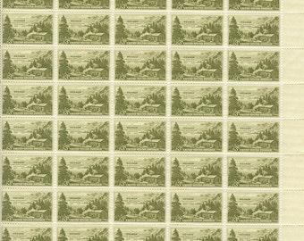 Vintage Sheet of 50 Nevada First Settlement Centeneial/MNH OG 1951/Scott #999
