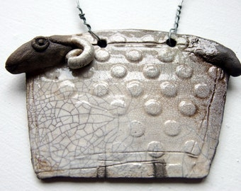 Raku fired Sheep hanging