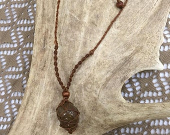 beautyful handmade earthy Jaspis Healing necklace