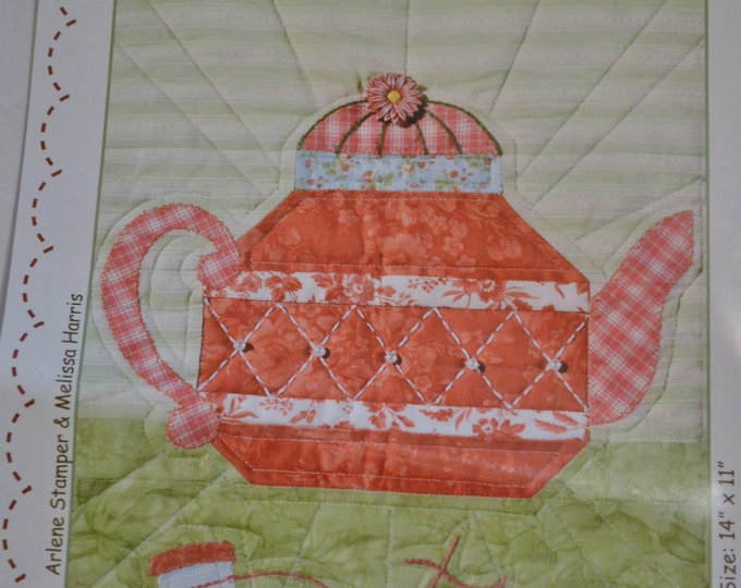 Sweet Tea Quilt Pattern Arlene Stamper Melissa Harris Teapot Sewing Quilting PanchosPorch