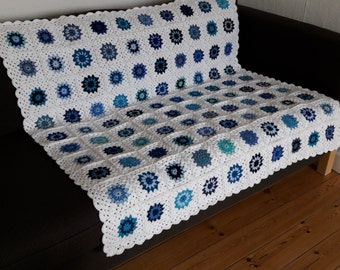 Throw Blanket Blue Throw Blanket Blue Sofa Throw Blue Granny Squares Blanket Blue Blanket Sofa Throw Blue Couch Throw