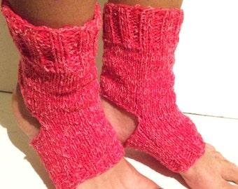Yoga Socks, Dance Socks,Toe-less Socks, Knitted Spats Flip Flop Socks Piyo Socks, Yoga Wear Pedicure socks, Knitted, Hand Knit