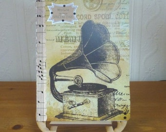 Something Special Vintage Style Gramaphone Mans Card