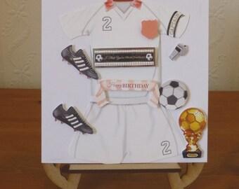 3d Boys Football Birthday Card