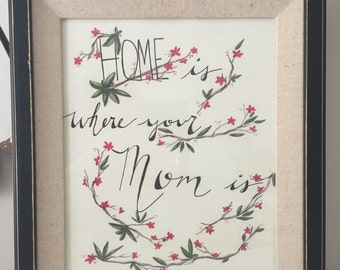 Home is Where Your Mom Is-Art Print