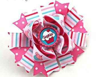 Cupcake Hair Bow, Cupcake Bow, Cupcake Baby, Cupcake Headband, Cupcake Hair Clip, Cupcake Birthday, Cupcake Hairbow, Cupcake Party, Cup Cake